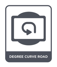 Degree Curve Road Icon Vector