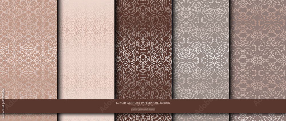 Fototapeta luxury abstract pattern collection texture background template vector design