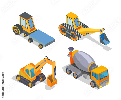 Construction Machine Building Machinery Icons Buy This Stock