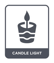 Candle Light Icon Vector