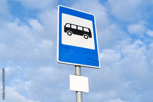 Fototapeta Bus stop sign obraz