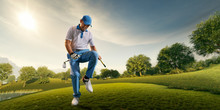 Male Golf Player On Profession...