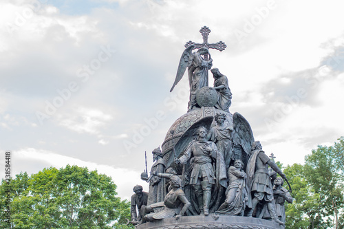 Foto op Canvas Artistiek mon. The Millennium of Russia, a bronze monument in the Novgorod Kremlin. Veliky Novgorod, Russia. July 21, 2017
