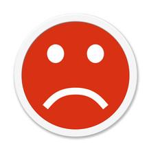 Runder Roter Button Zeigt Nega...