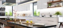Luxurious Interior Of White Mo...