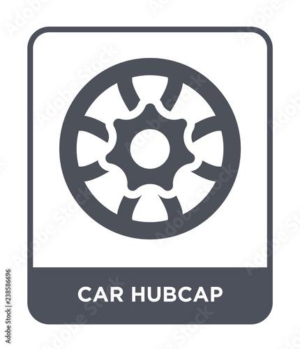Fényképezés car hubcap icon vector