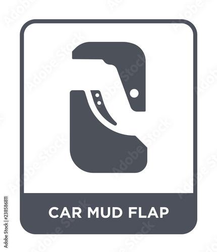 Foto car mud flap icon vector