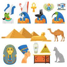 Egypt Culture Set. Gods, Sacre...