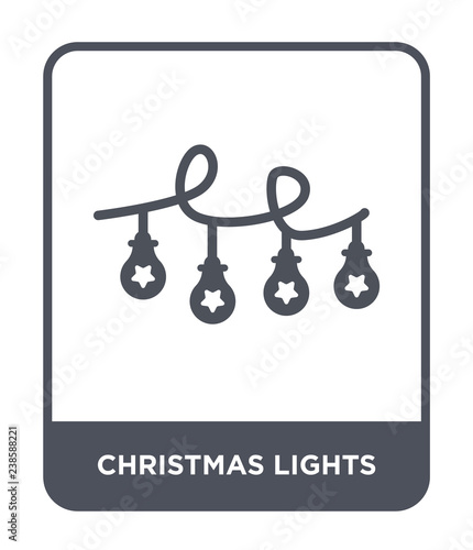 Fototapeta christmas lights icon vector