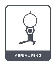 Aerial Ring Icon Vector