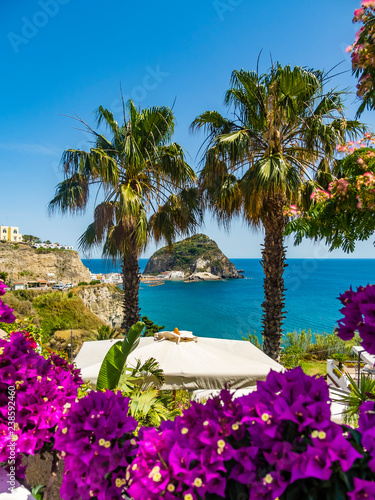 Fotomural Italy, Campania, Gulf of Naples, Naples, Ischia, Forio, Port and Bay of Sant'Ang