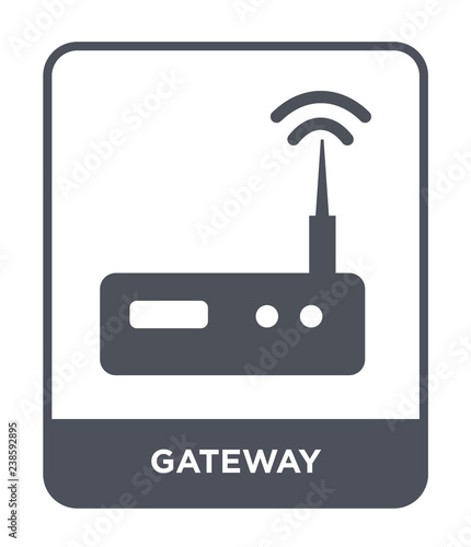 Photo gateway icon vector