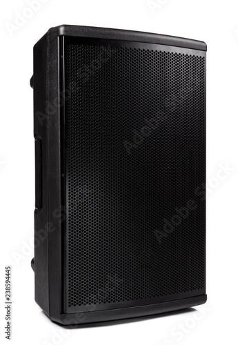 Fotografía  Dark speaker, loudspeaker isolated on white background