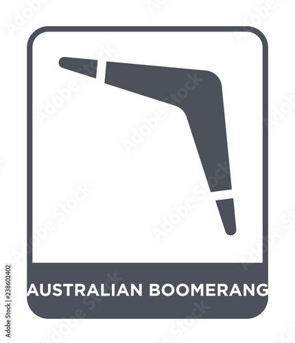 Photo australian boomerang icon vector