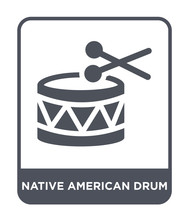 Native American Drum Icon Vector