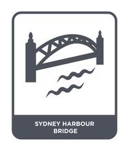 Sydney Harbour Bridge Icon Vector