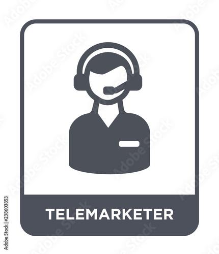telemarketer icon vector