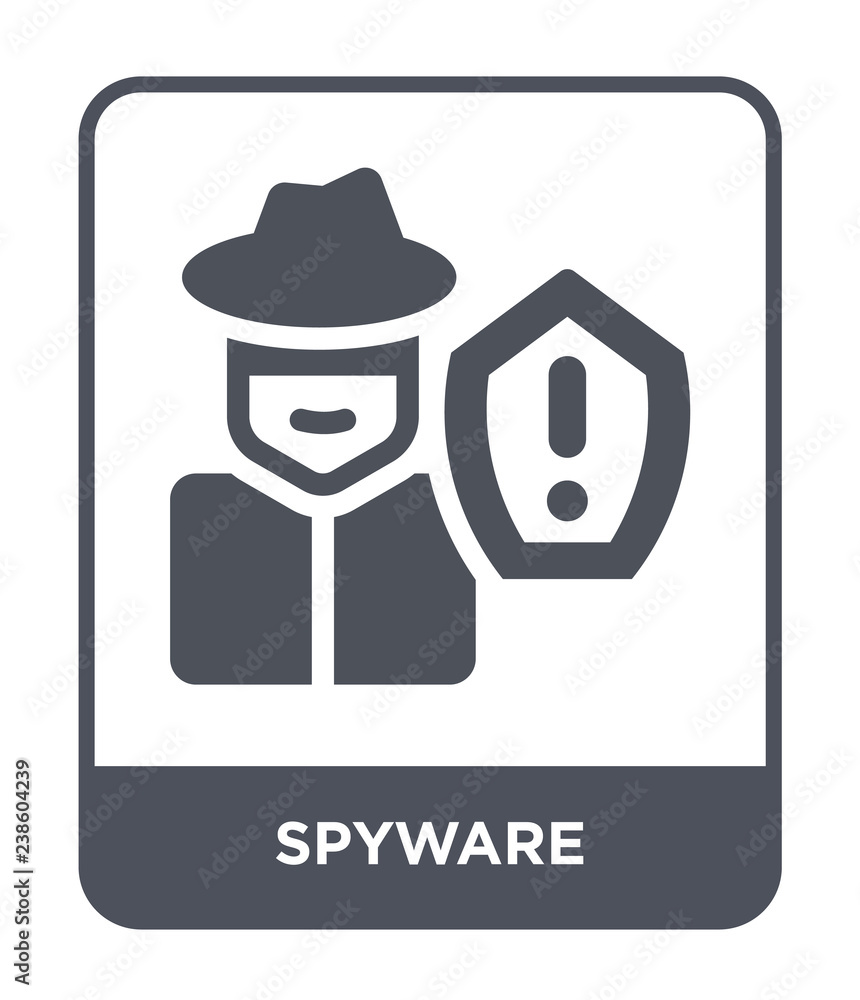 Fototapeta spyware icon vector