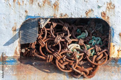 Fotografia, Obraz  Scalloper dredge hanging out of scupper