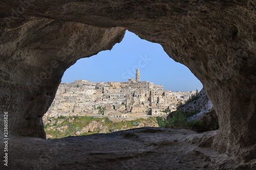 Spoed Foto op Canvas Grijze traf. Matera, Basilicata. Italy