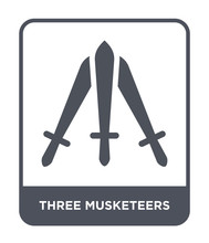 Three Musketeers Icon Vector
