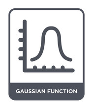 Gaussian Function Icon Vector