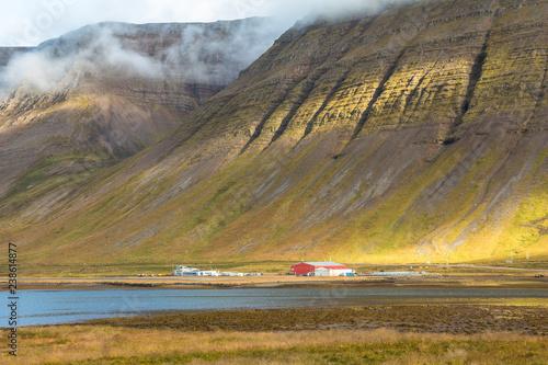 Photo  Beautiful fjord landscape near Isafjordur, Iceland