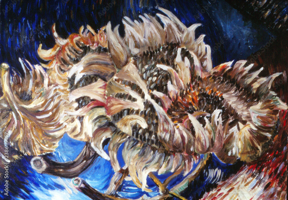 Sunflower painting expressionism