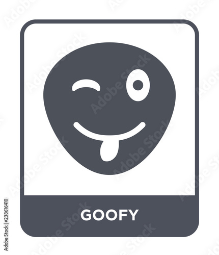 Photo goofy icon vector