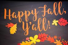 Happy Fall Y'all Vector