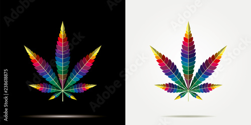 Poster de jardin Pop Art cannabis rainbow