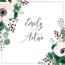 Wedding Vector Invite Card, In...