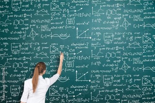 Photo  Albert einstein algebra background blackboard board business