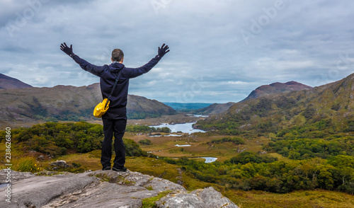 Ladies View, a scenic panorama on the Ring of Kerry