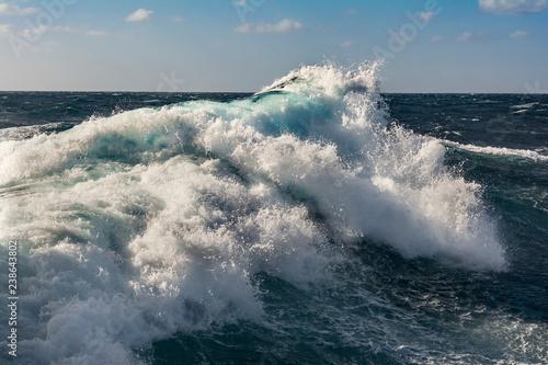 Poster Mer / Ocean sea wave in atlantic ocean during storm