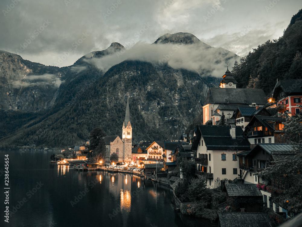Fototapeta Noc w Alpach