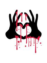 Blut Horror Halloween Böse Tr...