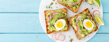 Toasts With Avocado Guacamole,...