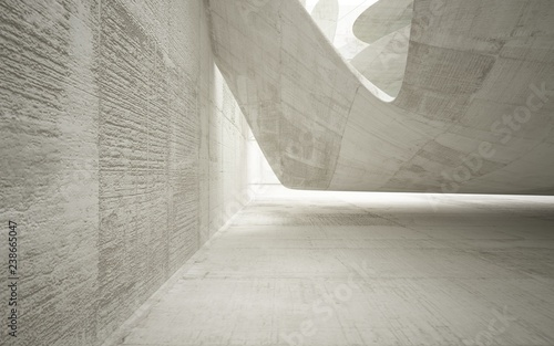 Fototapety, obrazy: Empty dark abstract concrete smooth interior with colored glass . Architectural background. 3D illustration and rendering