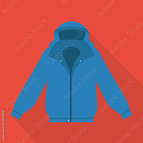 Jacket Icon In Flat Style With Long Shadow Isolated Vector Illustration On Red Transparent Background Winter Jacket Icon Vector Buy This Stock Vector And Explore Similar Vectors At Adobe Stock
