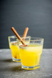 Old fashioned citrus beverage with spices. Selective focus. Shallow depth of field.