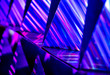 canvas print picture Abstract vibrant color light and refection with blurred background
