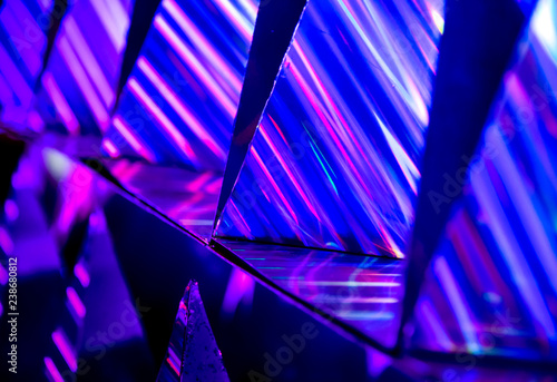 canvas print motiv - pixbox77 : Abstract vibrant color light and refection with blurred background