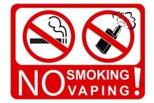 Simple Sign No Smoking And Vap...