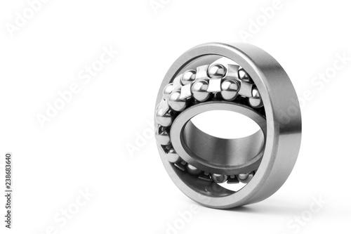 Tela Metal ball bearing isolated on white background