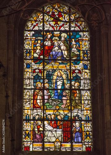 Fotografie, Obraz  Stained Glass, Braga, Portugal