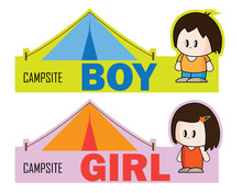 Campsite Tag For Boy Or Girl T...