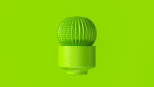 Lime Green Cactus With Lime Green Plant Pot 3d Illustration 3d Render