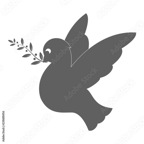Dove Silhouette  Symbol of Peace, Love, Tolerance and Trust
