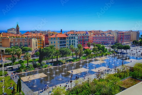 View to the Promenade du Paillon, City of Nice, France - 238694467